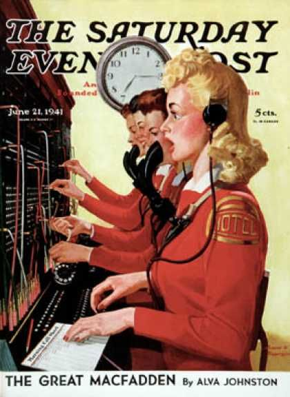 Saturday Evening Post - 1941-06-21: Hotel Switchboard Operators (Albert W. Hampson)