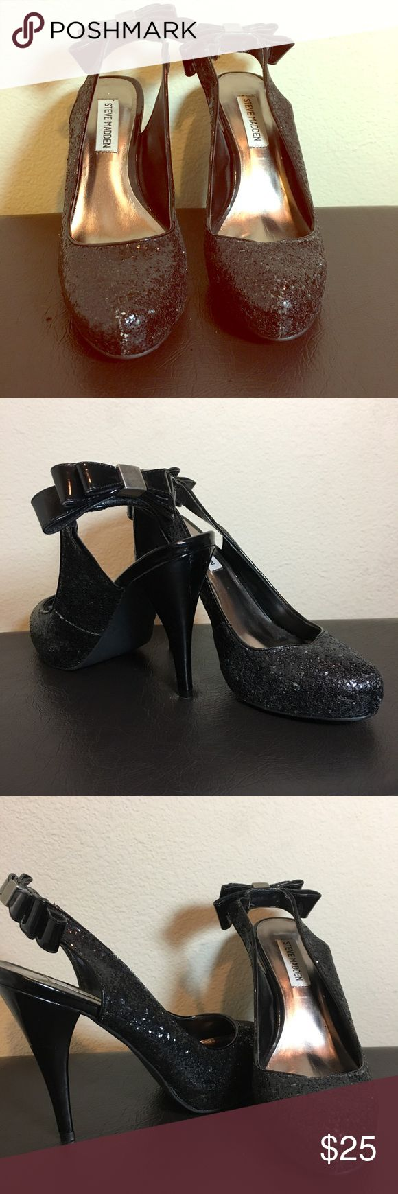 Steve Madden Sparkly High Heels Great condition sparkly high heels by Steve Madden. Steve Madden Shoes Heels