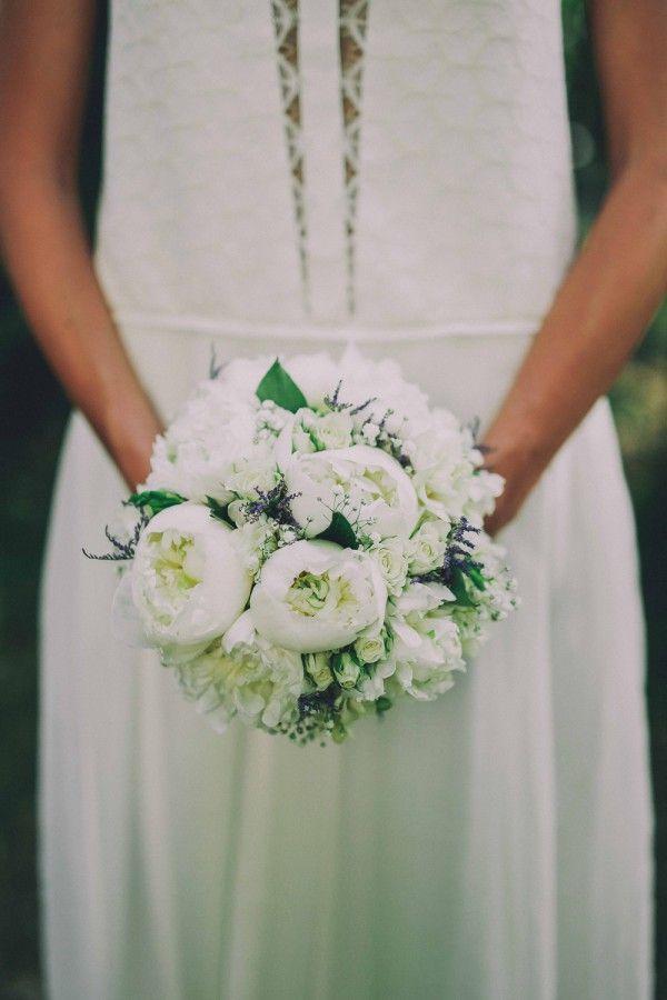 Bouquet chic et blanc