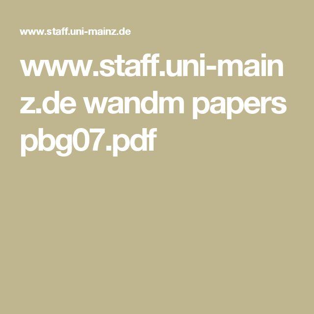 www.staff.uni-mainz.de wandm papers pbg07.pdf