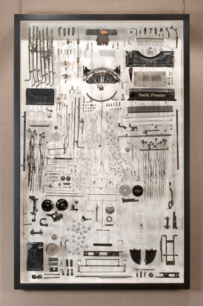 Paula Louw. I Loved. Typewriter parts, wire, plexiglass.
