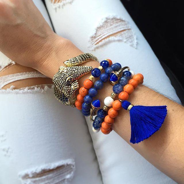 Florida Gator Football jewelry from Fancy Freebirds!