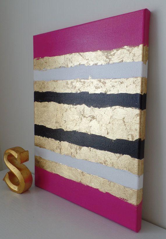 Kate Spade inspiré acrylique peinture toile par SomethingPrettyArt
