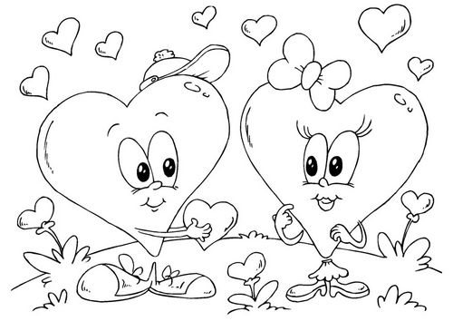 valentines coloring pages and activities