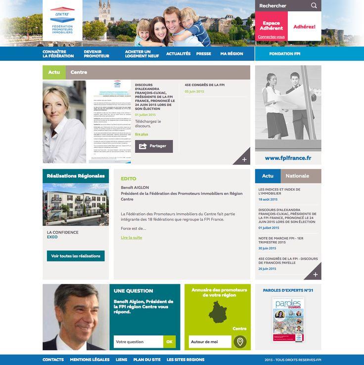 Nouveau site web de la région Centre de la Fédération des Promoteurs Immobiliers de France (FPI)