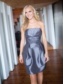 Dark Grey Bridesmaid Dress by Kenneth Winston