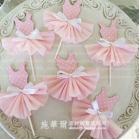 Купить Сладкий розовый платье принцессы вилки Подключите карты/Свадебные украшения таблицы Десерт Торты творческий день рождения S50 из категории Бумажные гирлянды и праздничные украшения на Kupinatao.com