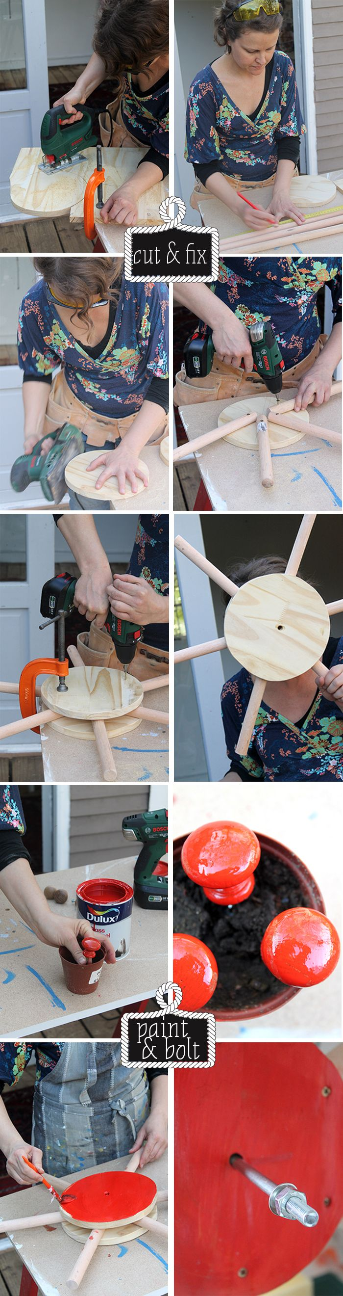 How to make a ship's wheel. Just in case you were wondering! www.homeology.co.za