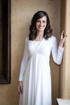 Size 24 lds temple white dress.
