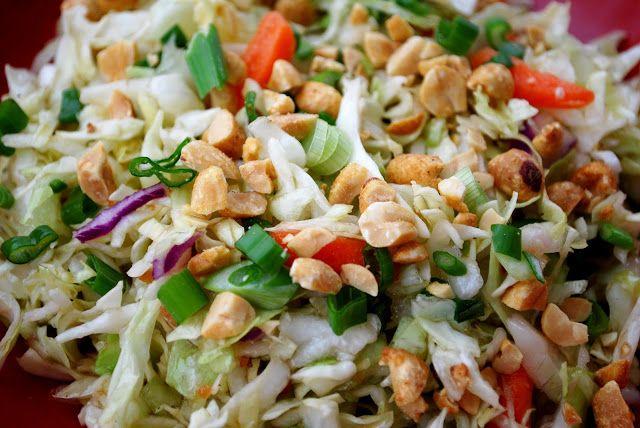 Thai Style Coleslaw - My Kitchen Escapades