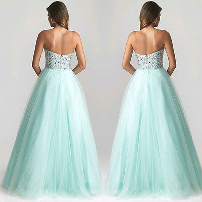 Sexy Sleeveless Evening Party Ball Prom Gown Formal Bridesmaids Long Dress