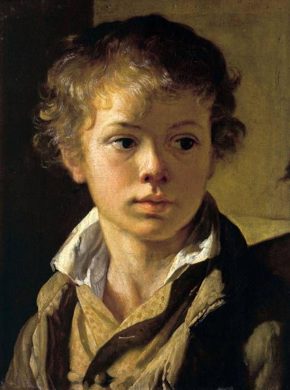 Василий Тропинин (1776-1857) - Портрет Арсения Васильевича Тропинина, сына художника. 1818