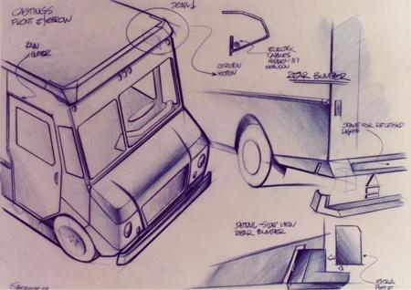 Grumman / Pratt Truck Design    Principles of Design in use: Unity, Contrast, Dominance, Proportion