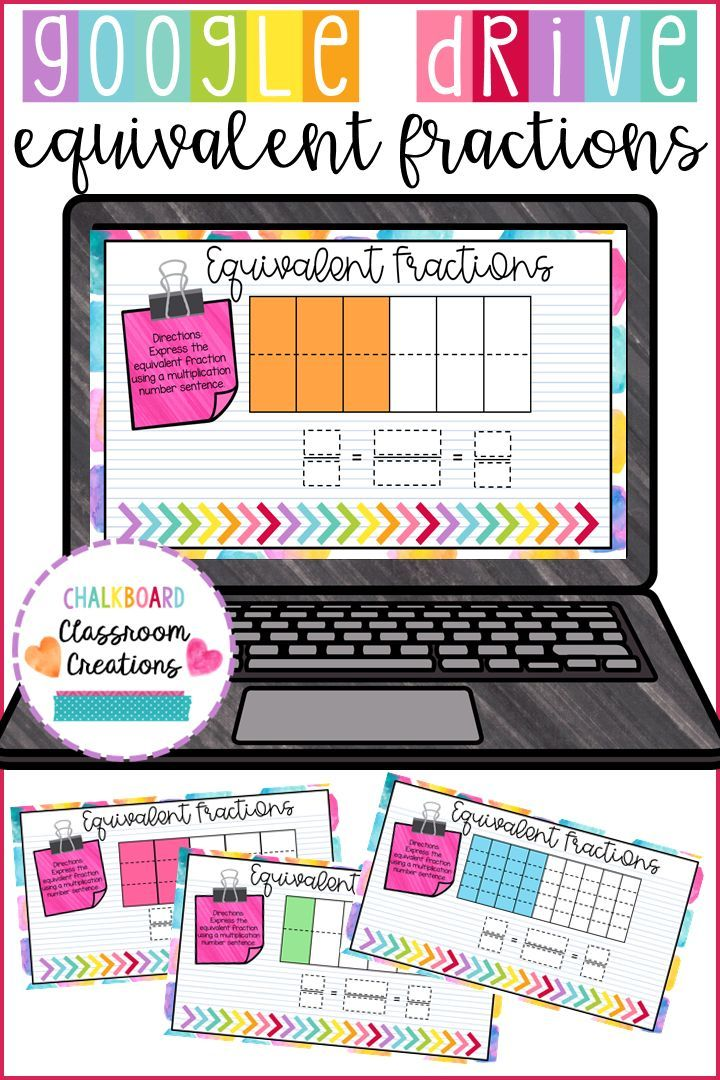 4th Grade Equivalent Fractions for Google Classroom Digital Task Cards 4.NF.A