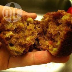 Rabarbermuffins met kaneelkruimellaag @ allrecipes.nl