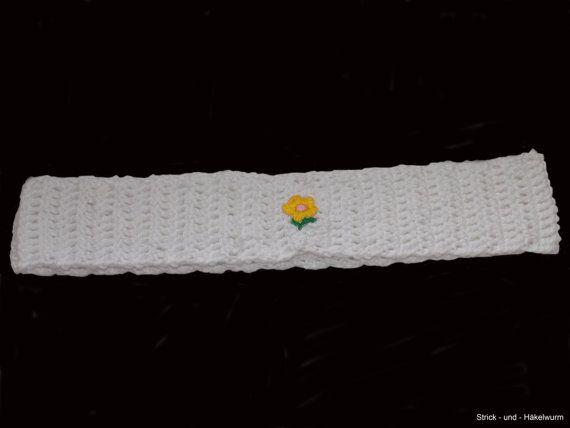 Kinderstirnbandgehäkeltes Kinderstirnband von StrickUndHaekelwurm