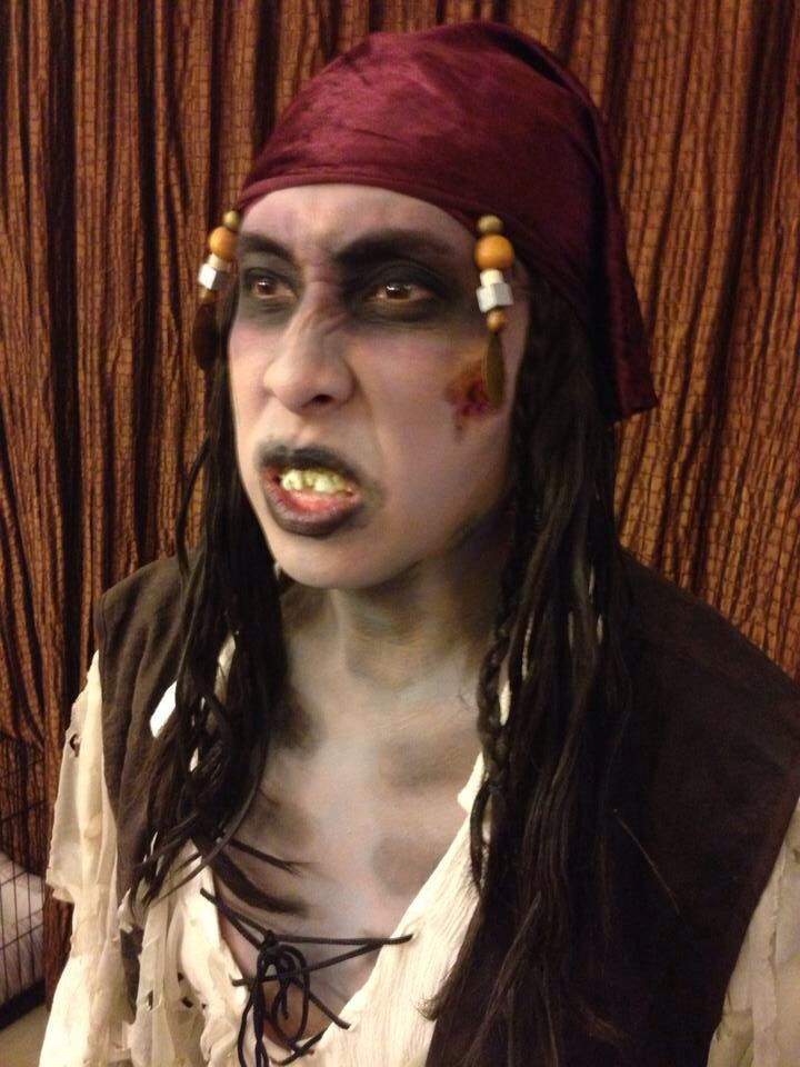 Zombie Dead Pirate Costume Makeup For Halloween DIY Make Up Scary | Halloween Costume ...