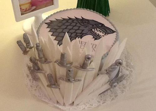 Winter is coming, Stark, Direwolf cake. Looks amazing. Google image.