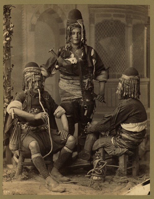 Bashi-Bazouks Turkish infrantrymen, Abdullah Fréres, photographer, 1888.