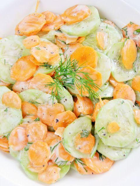 Sio-smutki: Mizeria z młodą marchewką