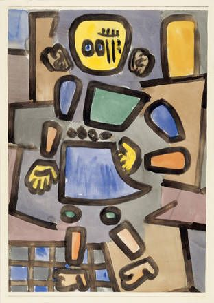 Paul Klee  Untitled (Gliederpuppe)[Mannequin] 1939  Watercolor on paper  65 x 46 cm