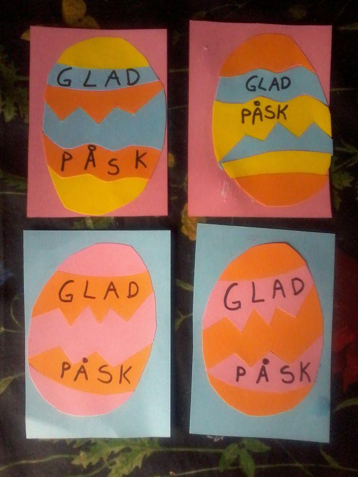 skapa, lek och lär: Påskpyssel  ,pusselkort