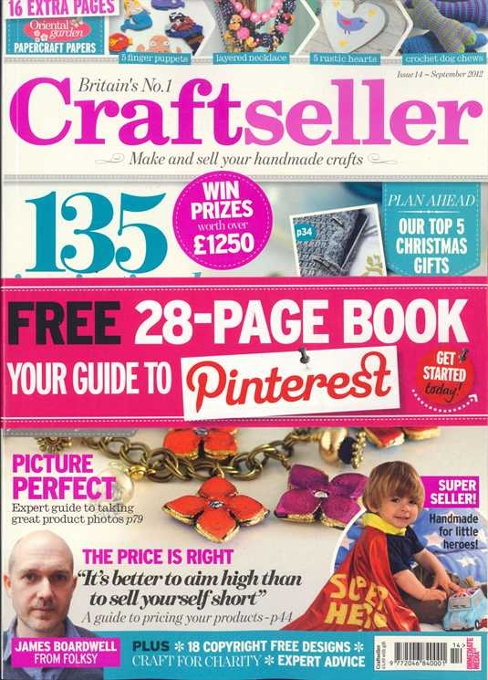 Craftseller Magazine issue 14. Crochet dog toy and granny square cushion