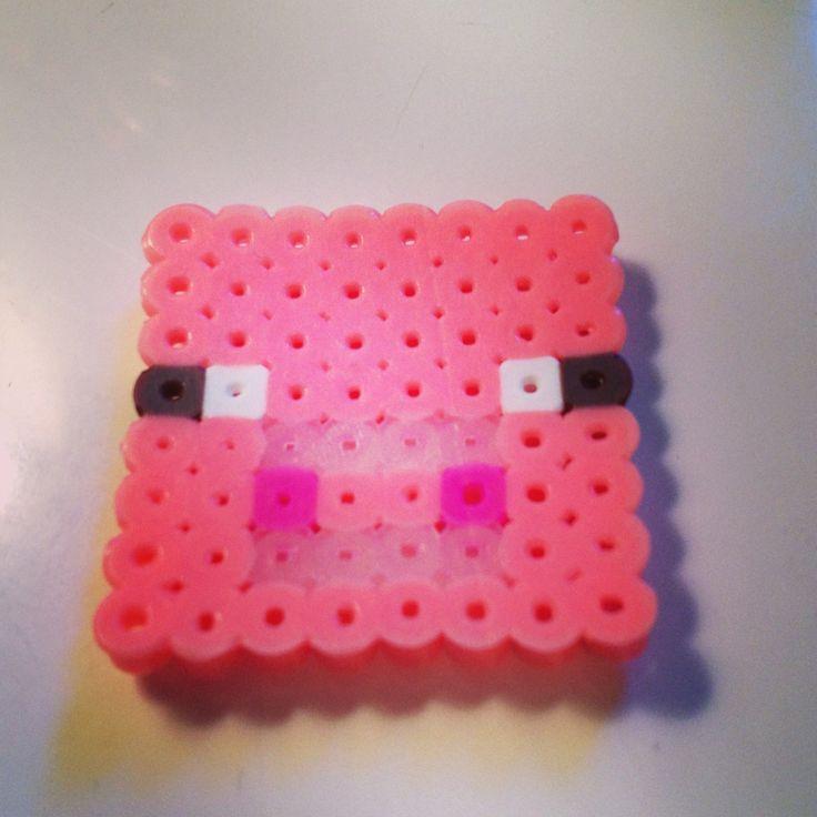 minecraft pig perler stuff