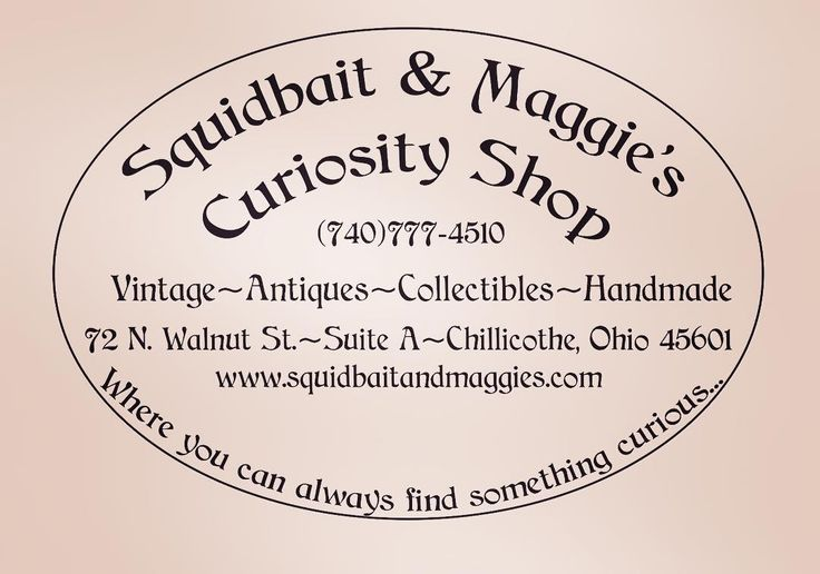 Open Sundays Noon to 6pm! #vintage #antiques #handmade #chillicotheohio