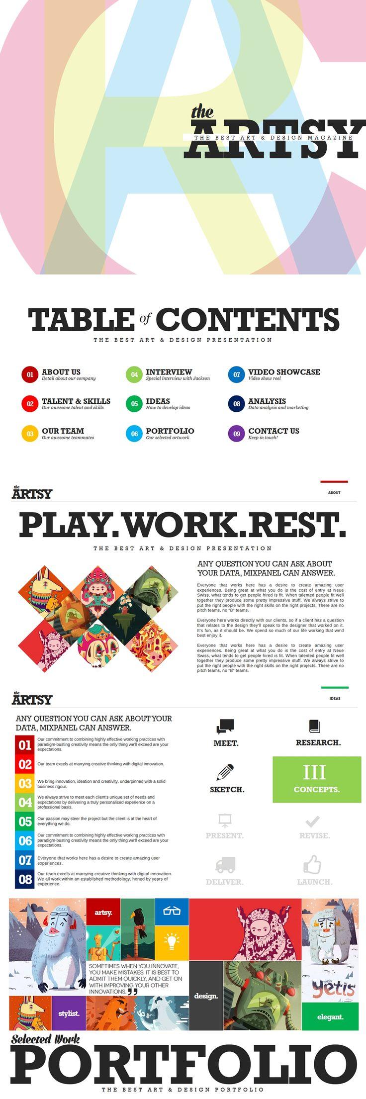 46 best presentations images on pinterest presentation layout artsy magazine powerpoint template toneelgroepblik Image collections