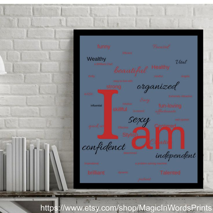 Instant Download, Wall Art, Printable, Affirmation Wall Art, Motivational Printable, Modern, Red, Black, Gray, Minimalist, I am sexy, strong by MagicInWordsPrints on Etsy