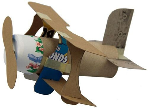 Mini Plane Recyclced Items