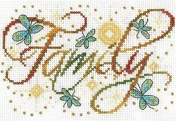 Family Cross Stitch Kit 2877