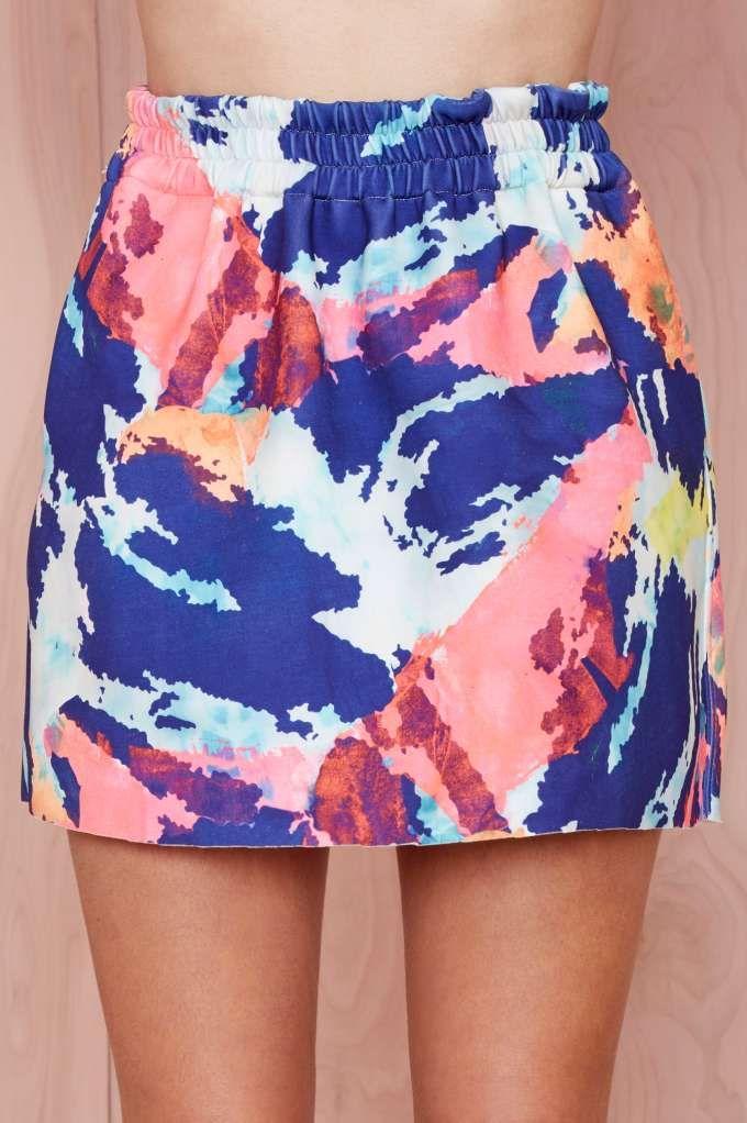 Shakuhachi Pop Rain Neoprene Skirt - Skirts   Shakuhachi     Skirts