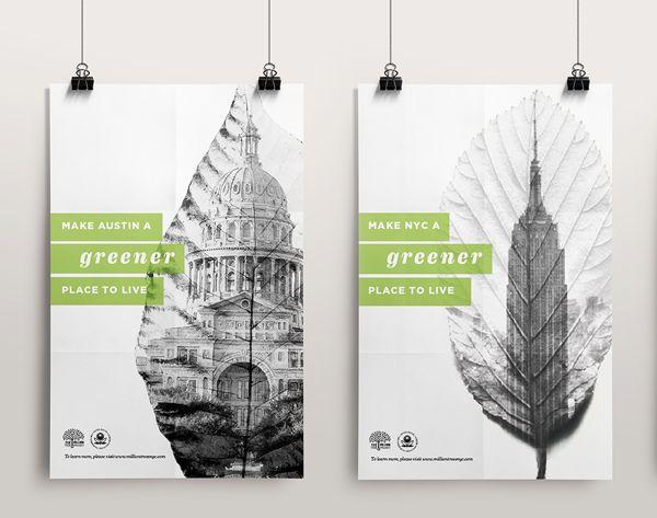 Greener Cities Poster Series by Alyssa Almeida, via Behance