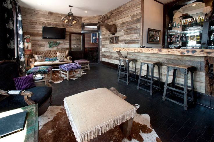 This room at The Ladysmith is called The French Quarter. This bar is always well-stocked!! It features wines from The Red 55 Winery, as well as locally made made vodkas from Texas and Oklahoma.