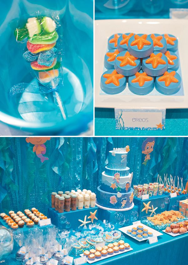 Under the Sea Bubble Guppies Birthday Party by Sweets Indeed with Hostess INK - Photography by The Pixel Studio - Table Linens by Wildflower Linens - Mini desserts by The French Confection Co., Bella's Bakery and Bowtique, A Twist of Cake, Dolly's Cotton Candy and Sweets Indeed