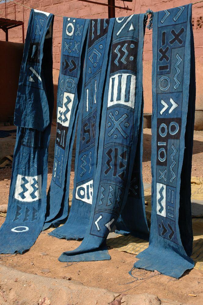 Indigo and bogolan textiles from Segou - Mali