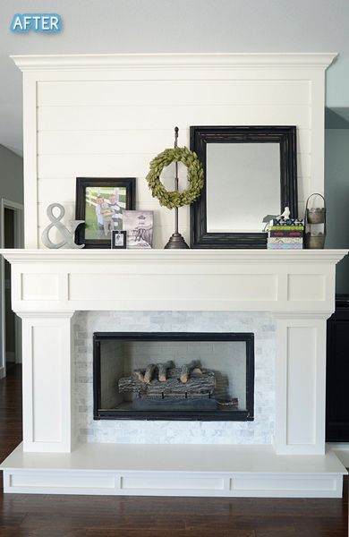Fireplace. Love the marble and the hearth