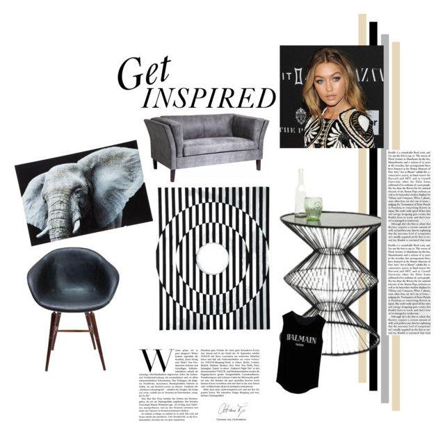 GEOMETRIC LOVE by karedesign on Polyvore featuring interior, interiors, interior design, home, home decor, interior decorating and Balmain