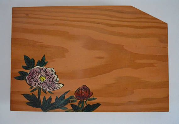 Wooden platter Japanese serving plate solid wood tray