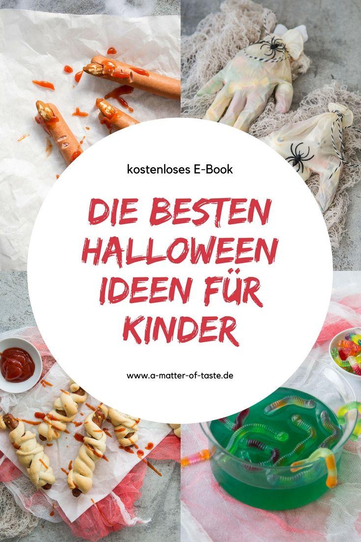E-Book mit den besten Halloween Ideen für Kinder. Einfache Rezepte und Bastelideen, die garantiert ganz einfach nachzumachen sind. Kostenlos herunterladen.