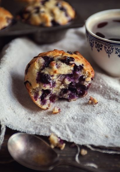Muffins+aux+bleuets+et+aux+poires