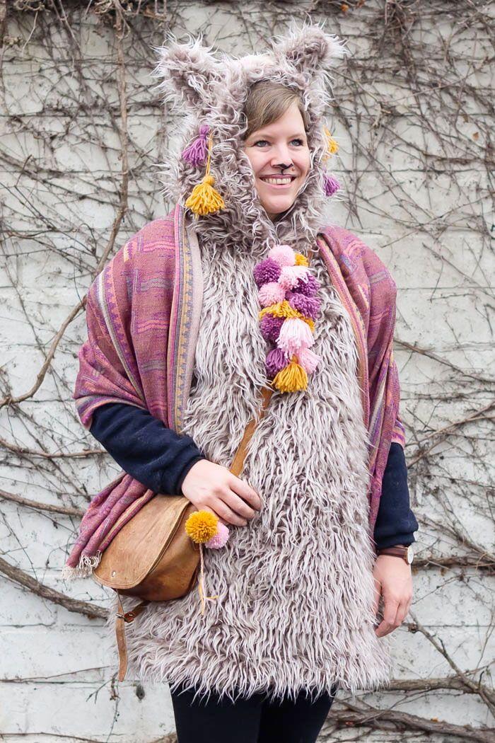 Lama Oder Alpaka Kostum Zu Karneval Selber Machen Alpaka