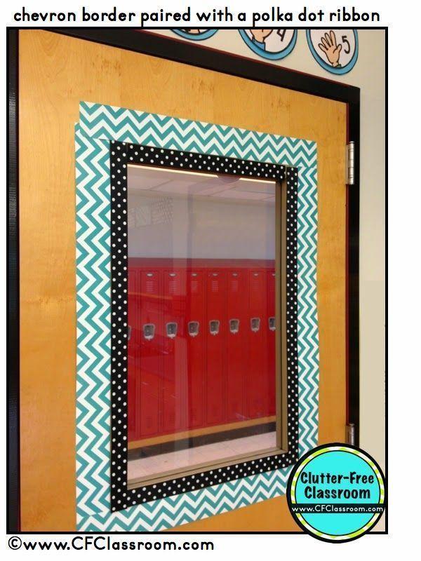 Classroom Decor Borders ~ Adding a double border around door really makes it