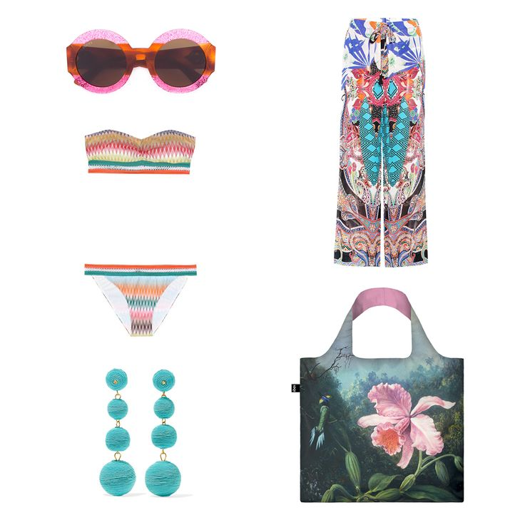 Make LOQIs Exotic Dreams part of your sunshine filled summer days into show-stopping summer nights. #LOQI #😎  #bag #exoticdreams #summeroutfit #orchid #OOTD #martinjohnsonheade #earrings #bikini #sunglasses #summer #exotic #flowers #jungle #Tropical #Rainforest #Flora #Fauna #Birds #Butterflies #lush #green #colourful #inspiration #fashion #style #outfit