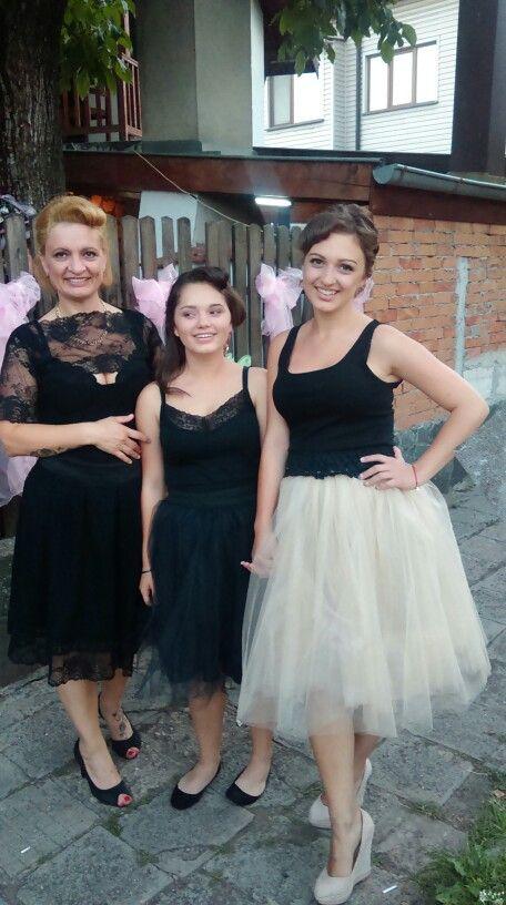 My Dress and my girls skirts