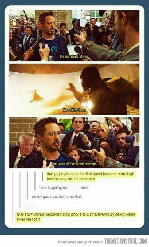 Tony Stark is magically upgrades phones