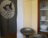 Le noren - Rideaux style japonais Hibou en broderie Patchwork : Textiles et tapis par iriri