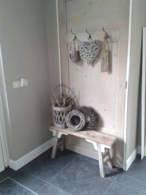 17 beste afbeeldingen over landelijke entree op pinterest grijze gang voordeuren en entree - Entree interieur decoratie ...